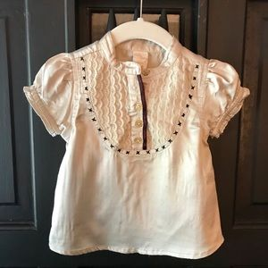 Old Navy fancy satin top for baby girls